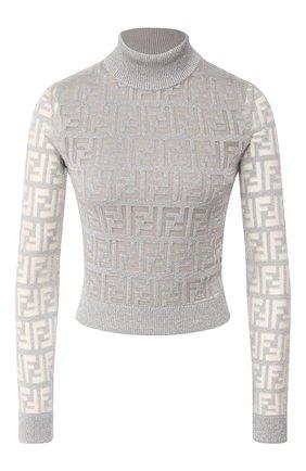 Женская пуловер FENDI серебряного цвета, арт. FZY909 AA5I | Фото 1