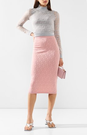 Женская пуловер FENDI серебряного цвета, арт. FZY909 AA5I | Фото 2