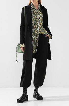 Женские брюки со стрелками ACNE STUDIOS черного цвета, арт. AK0216/W | Фото 2