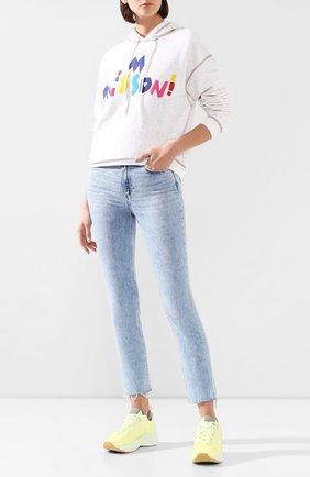 Женские джинсы PAIGE голубого цвета, арт. 4875E77-8105 | Фото 2