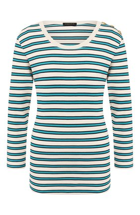 Женский пуловер из вискозы ESCADA бирюзового цвета, арт. 5032699 | Фото 1