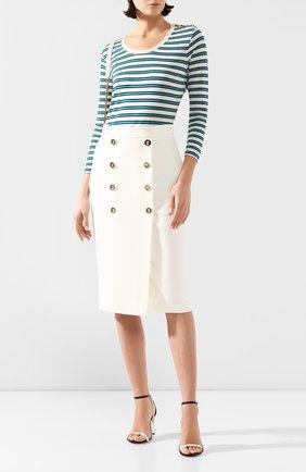 Женский пуловер из вискозы ESCADA бирюзового цвета, арт. 5032699 | Фото 2