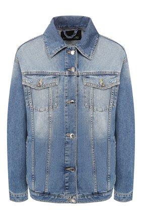 Женская джинсовая куртка ERMANNO ERMANNO SCERVINO голубого цвета, арт. 46T CP23 JNS | Фото 1