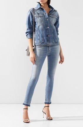 Женская джинсовая куртка ERMANNO ERMANNO SCERVINO голубого цвета, арт. 46T CP23 JNS   Фото 2