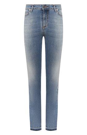 Женские джинсы ERMANNO ERMANNO SCERVINO голубого цвета, арт. 46T JL09 JNS | Фото 1