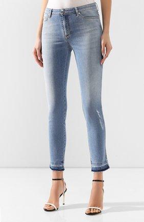 Женские джинсы ERMANNO ERMANNO SCERVINO голубого цвета, арт. 46T JL09 JNS | Фото 3