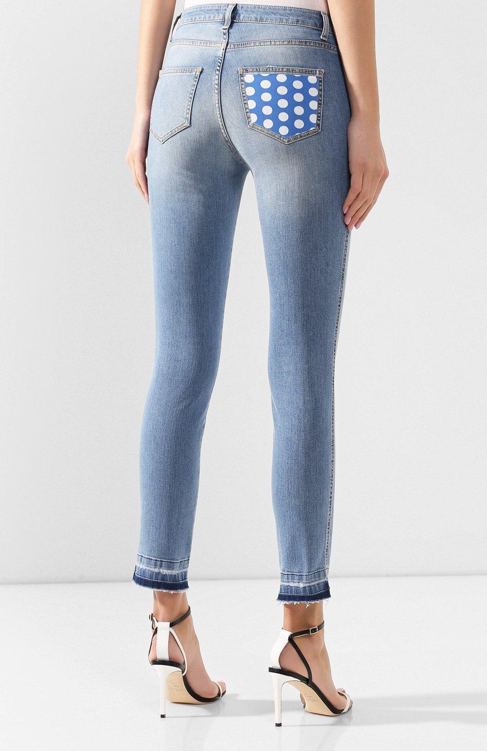 Женские джинсы ERMANNO ERMANNO SCERVINO голубого цвета, арт. 46T JL09 JNS | Фото 4