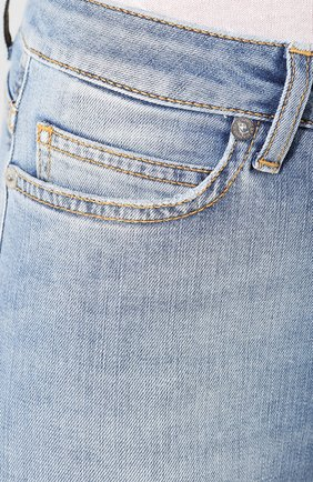 Женские джинсы ERMANNO ERMANNO SCERVINO голубого цвета, арт. 46T JL09 JNS | Фото 5