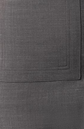 Женская юбка из смеси шерсти и шелка BURBERRY серого цвета, арт. 4564103   Фото 5