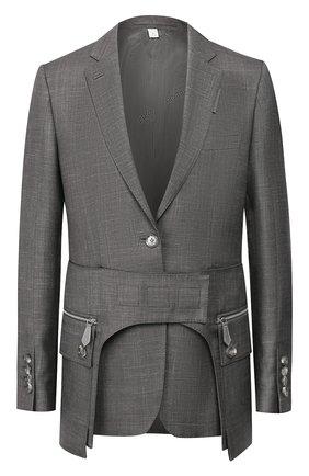 Женский жакет BURBERRY серого цвета, арт. 4564181 | Фото 1