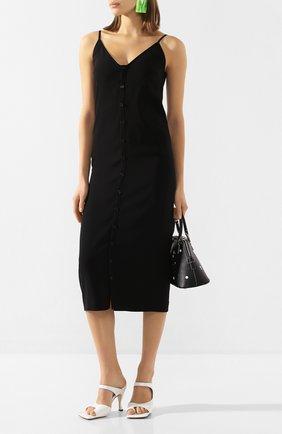 Женское платье-миди MAISON MARGIELA черного цвета, арт. S51CU0185/S52619 | Фото 2