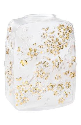 Мужская ваза fleurs de cerisier LALIQUE прозрачного цвета, арт. 10708000   Фото 1