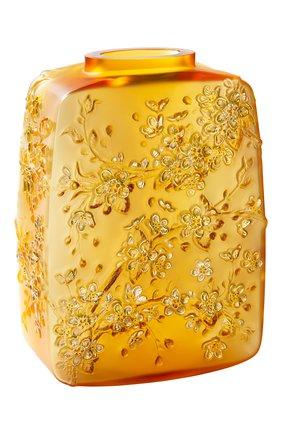 Мужского ваза fleurs de cerisier LALIQUE оранжевого цвета, арт. 10708200 | Фото 1