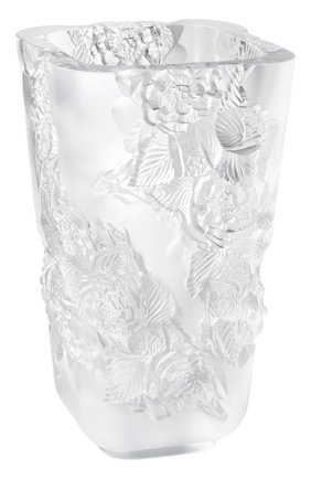Мужского ваза pivoines big LALIQUE прозрачного цвета, арт. 10708400 | Фото 1