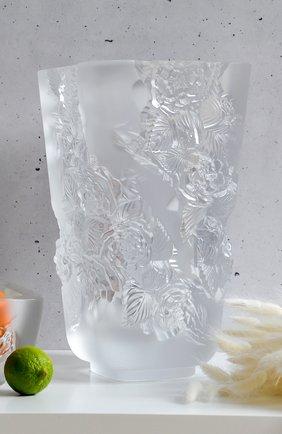 Мужского ваза pivoines big LALIQUE прозрачного цвета, арт. 10708400 | Фото 2