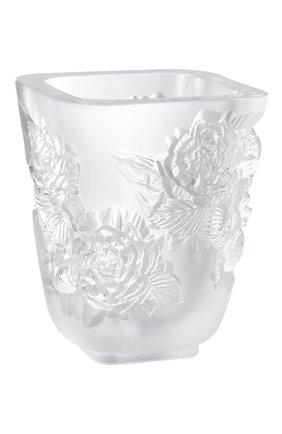 Мужского ваза pivoines small LALIQUE прозрачного цвета, арт. 10708500 | Фото 1