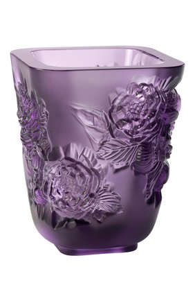 Мужского ваза pivoines small LALIQUE фиолетового цвета, арт. 10708600 | Фото 1