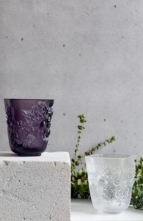 Мужская ваза pivoines small LALIQUE фиолетового цвета, арт. 10708600 | Фото 2
