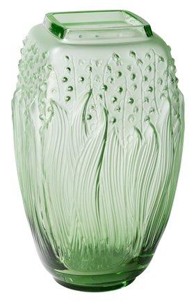 Мужского ваза muguet LALIQUE зеленого цвета, арт. 10709100 | Фото 1
