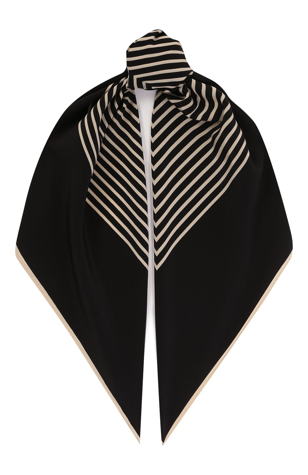 Женский шелковый платок TOTÊME черного цвета, арт. VENEZIA 193-853-801 | Фото 1