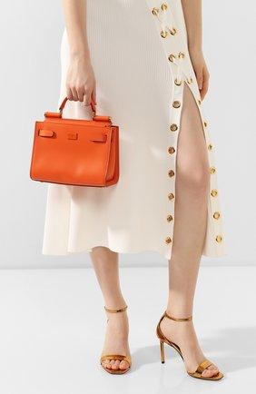 Женская сумка sicily 62 small DOLCE & GABBANA оранжевого цвета, арт. BB6836/AV385 | Фото 2