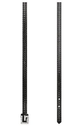 Женское кожаный чокер GUCCI черного цвета, арт. 621283/J1784 | Фото 2