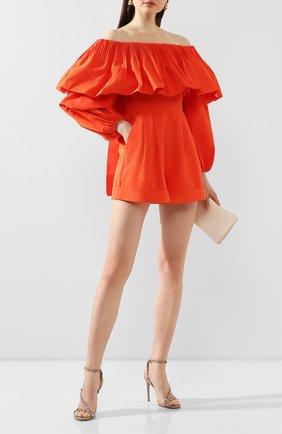 Женские кожаные босоножки valentino garavani rockstud VALENTINO бежевого цвета, арт. TW0S0X45/V0D   Фото 2