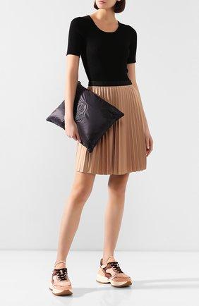 Женские текстильные кроссовки HOGAN бежевого цвета, арт. GYW4350CW50NVZ | Фото 2