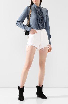 Женская джинсовая рубашка SAINT LAURENT синего цвета, арт. 623782/YW880 | Фото 2