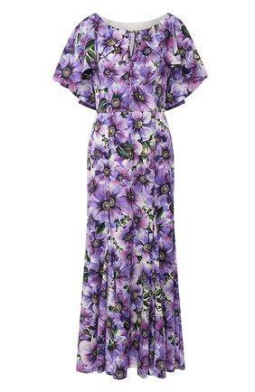 Женское шелковое платье DOLCE & GABBANA фиолетового цвета, арт. F6H20T/FSAZ0 | Фото 1