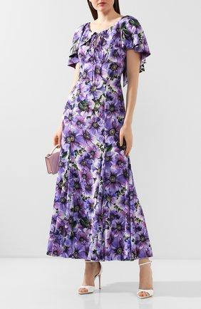 Женское шелковое платье DOLCE & GABBANA фиолетового цвета, арт. F6H20T/FSAZ0 | Фото 2
