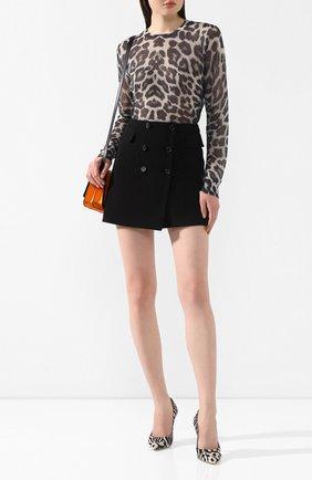 Женская юбка-мини DOLCE & GABBANA черного цвета, арт. F4BWGT/FUCC6 | Фото 2