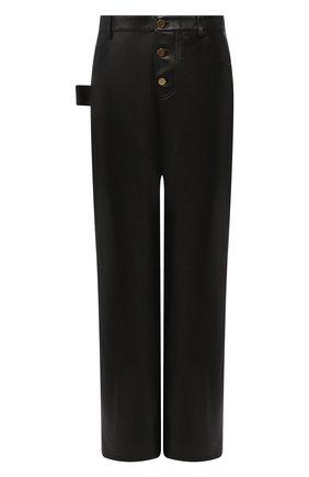 Женские кожаные брюки BOTTEGA VENETA черного цвета, арт. 618528/VKV90 | Фото 1
