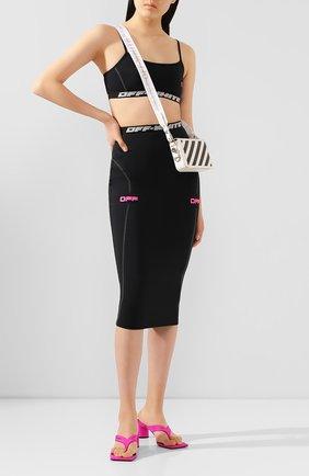 Женская юбка OFF-WHITE черного цвета, арт. 0WCC065R20H810871028   Фото 2