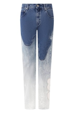 Женские джинсы OFF-WHITE голубого цвета, арт. 0WYA012R207730987171 | Фото 1