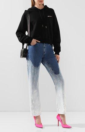 Женские джинсы OFF-WHITE голубого цвета, арт. 0WYA012R207730987171 | Фото 2