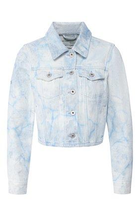 Женская джинсовая куртка OFF-WHITE голубого цвета, арт. 0WYE008R20773104B8B8 | Фото 1