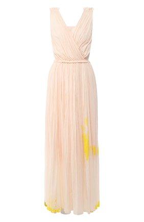 Женское хлопковое платье VIKA GAZINSKAYA светло-розового цвета, арт. SS20-1387 | Фото 1