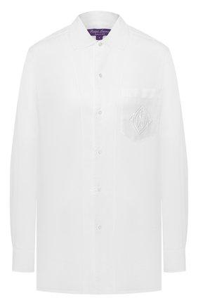 Женская хлопковая рубашка RALPH LAUREN белого цвета, арт. 290797866 | Фото 1 (Рукава: Длинные; Принт: Без принта; Женское Кросс-КТ: Рубашка-одежда; Длина (для топов): Стандартные, Удлиненные; Материал внешний: Хлопок; Стили: Кэжуэл; Статус проверки: Проверена категория)