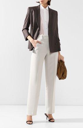 Женская хлопковая рубашка RALPH LAUREN белого цвета, арт. 290797866 | Фото 2 (Рукава: Длинные; Принт: Без принта; Женское Кросс-КТ: Рубашка-одежда; Длина (для топов): Стандартные, Удлиненные; Материал внешний: Хлопок; Стили: Кэжуэл; Статус проверки: Проверена категория)