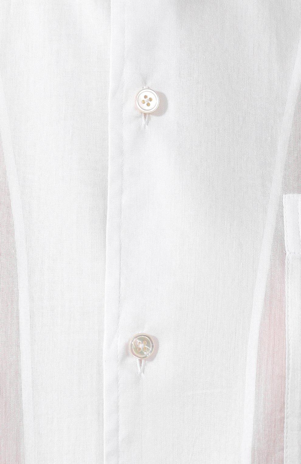 Женская хлопковая рубашка RALPH LAUREN белого цвета, арт. 290797866 | Фото 5 (Рукава: Длинные; Принт: Без принта; Женское Кросс-КТ: Рубашка-одежда; Длина (для топов): Стандартные, Удлиненные; Материал внешний: Хлопок; Стили: Кэжуэл; Статус проверки: Проверена категория)