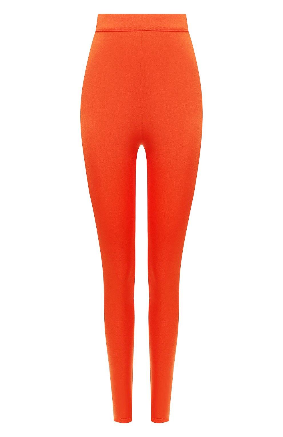 Женские леггинсы BALMAIN оранжевого цвета, арт. TF05355/X372 | Фото 1