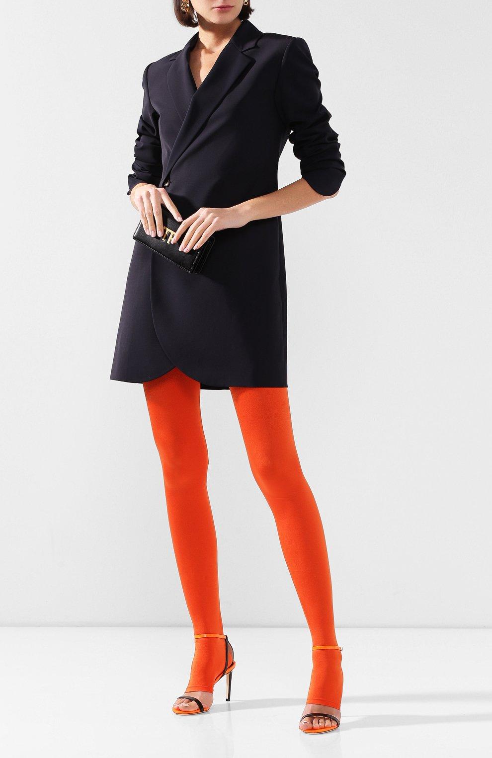 Женские леггинсы BALMAIN оранжевого цвета, арт. TF05355/X372 | Фото 2