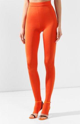 Женские леггинсы BALMAIN оранжевого цвета, арт. TF05355/X372 | Фото 3