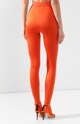 Женские леггинсы BALMAIN оранжевого цвета, арт. TF05355/X372 | Фото 4
