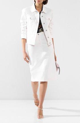 Женская джинсовая куртка DRIES VAN NOTEN белого цвета, арт. 201-10568-9395 | Фото 2