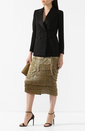 Женская шелковая юбка DOLCE & GABBANA бронзового цвета, арт. F4BUUZ/GDU61 | Фото 2