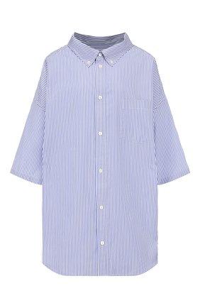 Женская хлопковая рубашка BALENCIAGA голубого цвета, арт. 622051/TYB19 | Фото 1