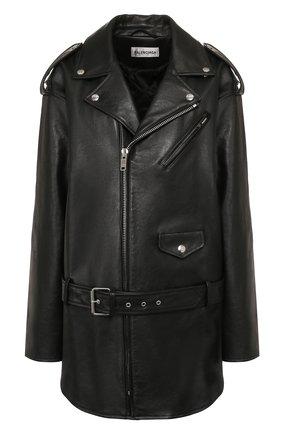 Женская кожаная куртка BALENCIAGA черного цвета, арт. 620767/TIS01 | Фото 1