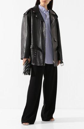 Женская кожаная куртка BALENCIAGA черного цвета, арт. 620767/TIS01 | Фото 2